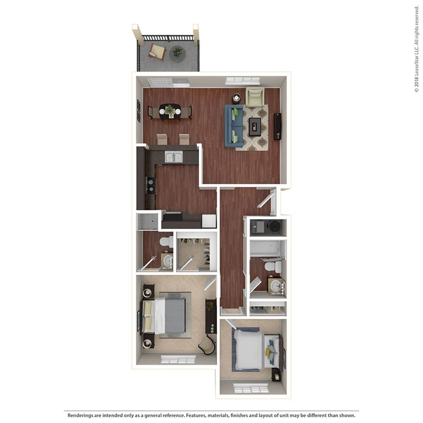 2BR/2BA A 2 Bed 2 Bath Floor Plan at Crooked Oak at Loma Verde Preserve, California, 94949