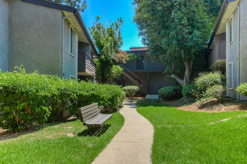 Beautiful Landscaping and Park-like Setting at Chatsworth Pointe Apartments, Canoga Park, California