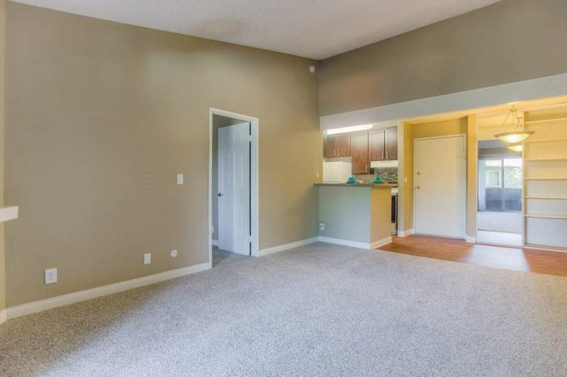 Wall-to-Wall Carpeting in Living Room at Chatsworth Pointe Apartments, CA, 91304