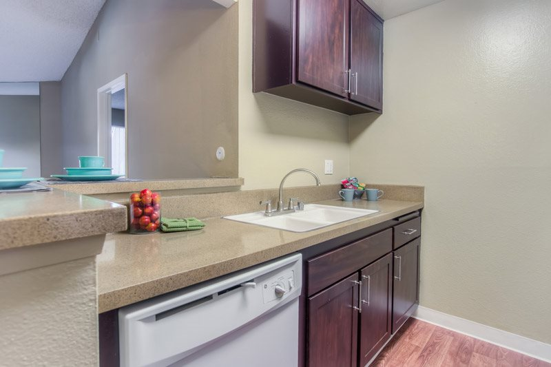 Solid Cultured Marble Counter Tops at Chatsworth Pointe Apartments, Canoga Park, 91304