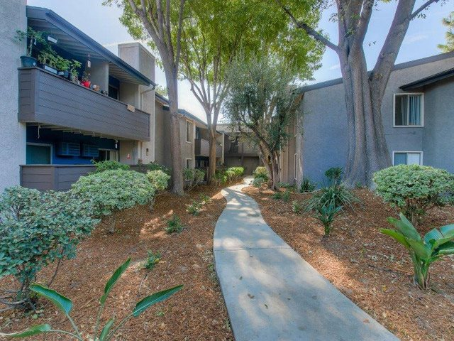 Designated Outdoor Walkways in Community at Chatsworth Pointe Apartments, 8900 Topanga Canyon Boulevard, CA