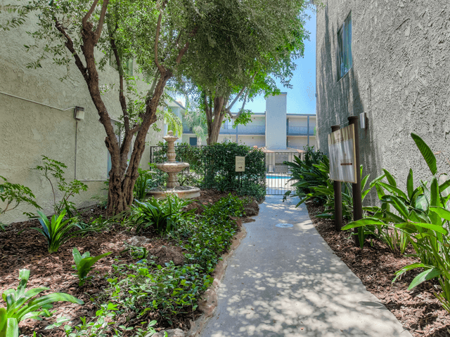Walkway in Community at Nortview-Southview Apartment Homes, 8111 Reseda Boulevard, CA