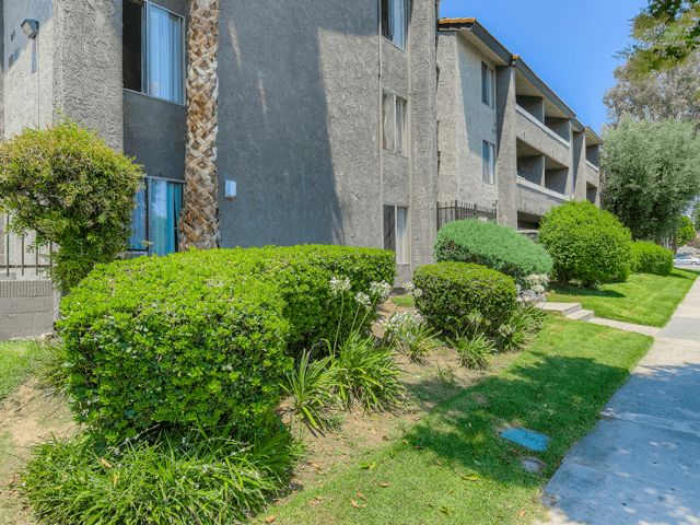 Beautifully Landscaped Grounds at Nortview-Southview Apartment Homes, Reseda, California