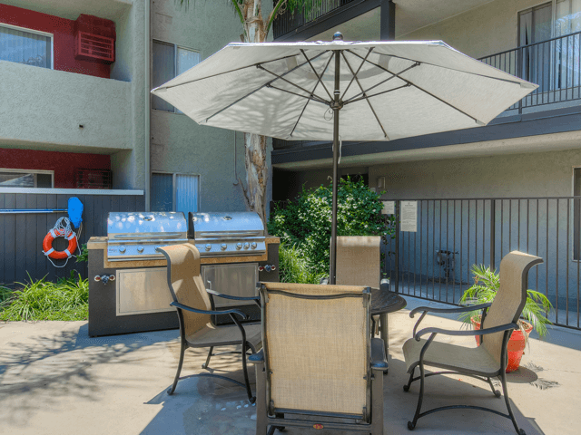 Picnic and Outdoor BBQ Area at Nortview-Southview Apartment Homes, Reseda, California