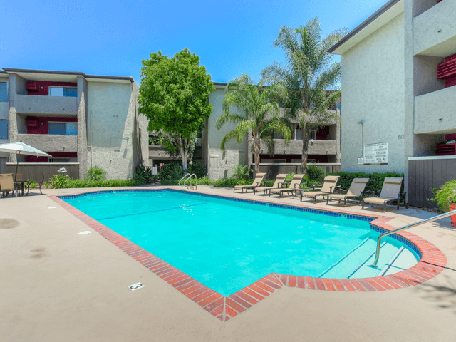Resort-Style Pool at Nortview-Southview Apartment Homes, California, 91335