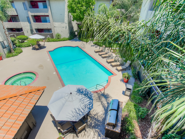 Sparkling Swimming Pool at Nortview-Southview Apartment Homes, Reseda, CA