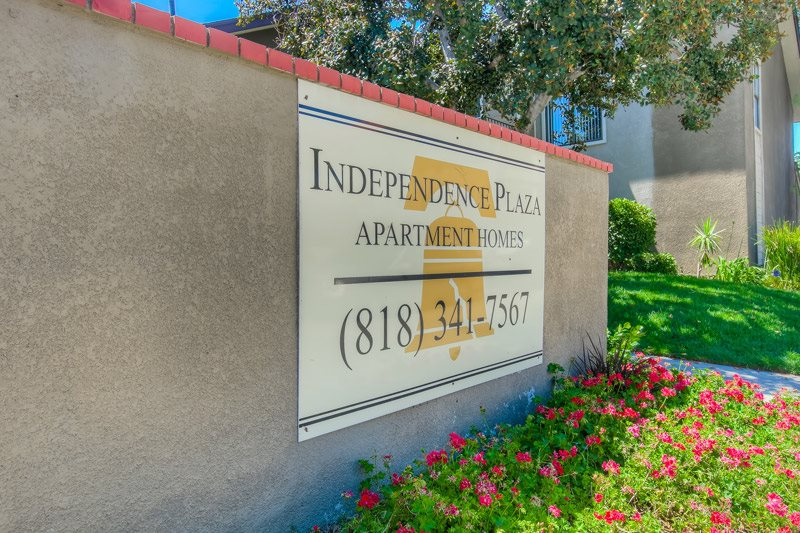 Private Gated Community at Independence Plaza Apartments, Canoga Park, California