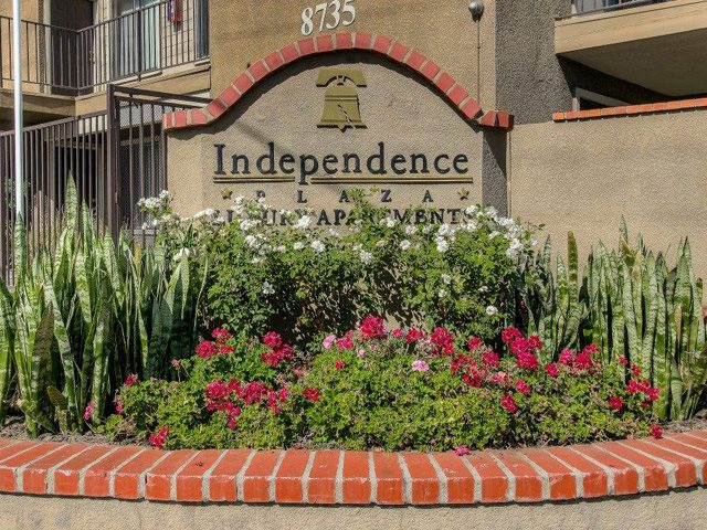 Gated Entrance at Independence Plaza Apartments, California, 91304