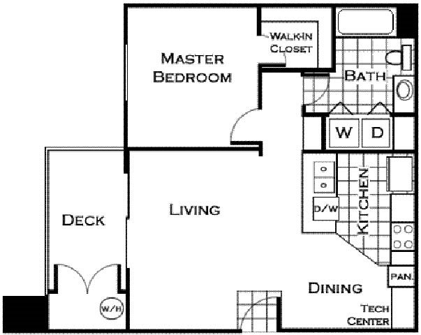 San Antonio Floorplan at Estancia Apartment Homes
