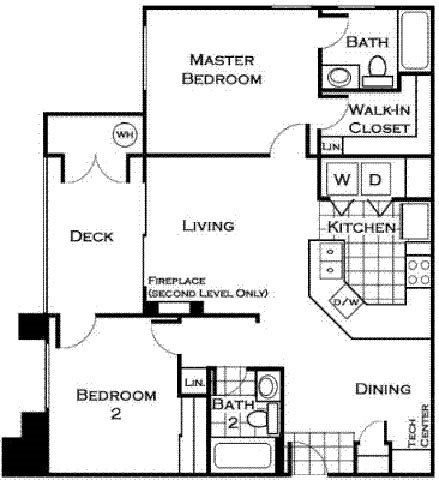 San Diego Floorplan at Estancia Apartment Homes
