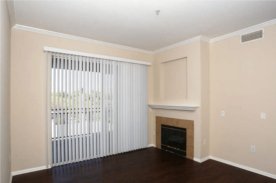 Large living room With Gas Fireplace  at Estancia Apartment Homes, CA,92508