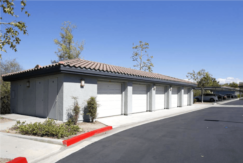 Private Garages is available at Estancia Apartment Homes, 92508