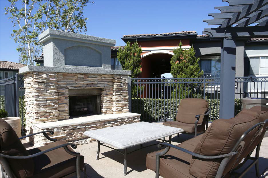 Estancia Apartment Homes, has private courtyards with grilling areas