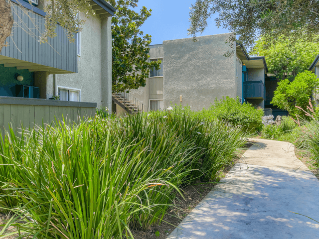 Beautifully Landscaped Grounds  at Twenty 2 Eleven Apartments, Canoga Park, 91306