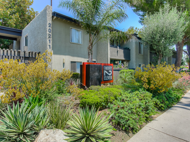 Gated Entrance at Twenty 2 Eleven Apartments, Canoga Park, 91306