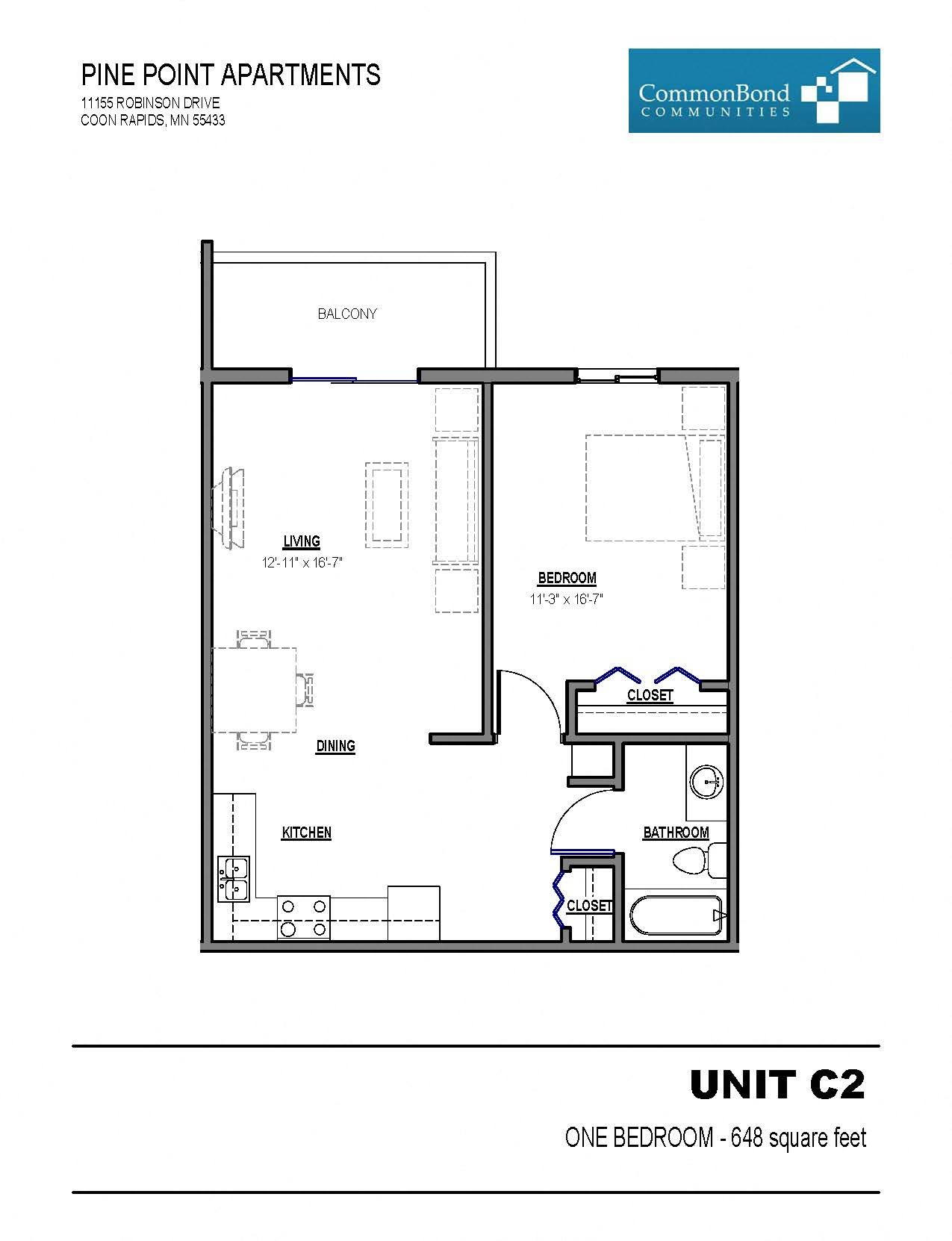 Unit C2 Floor Plan 4