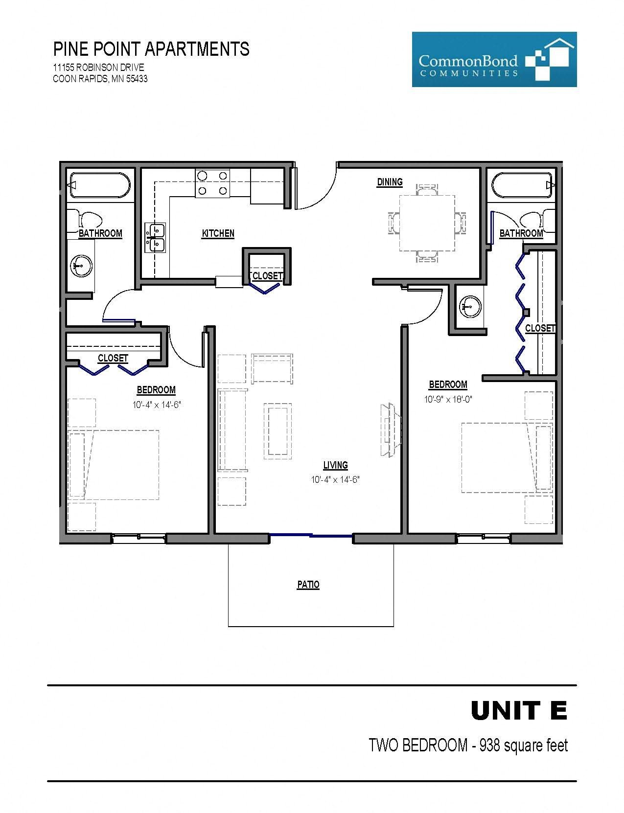 Unit E Floor Plan 3