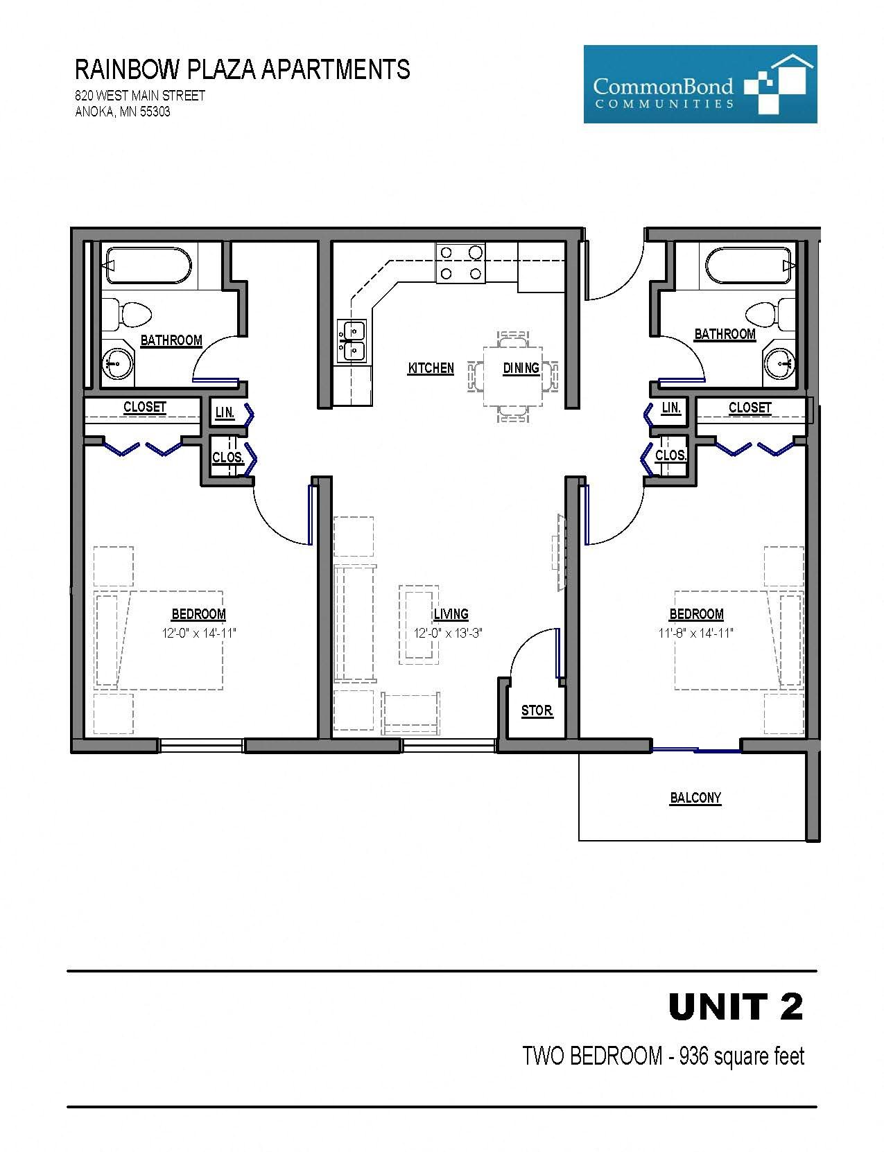 Unit 2 Floor Plan 2