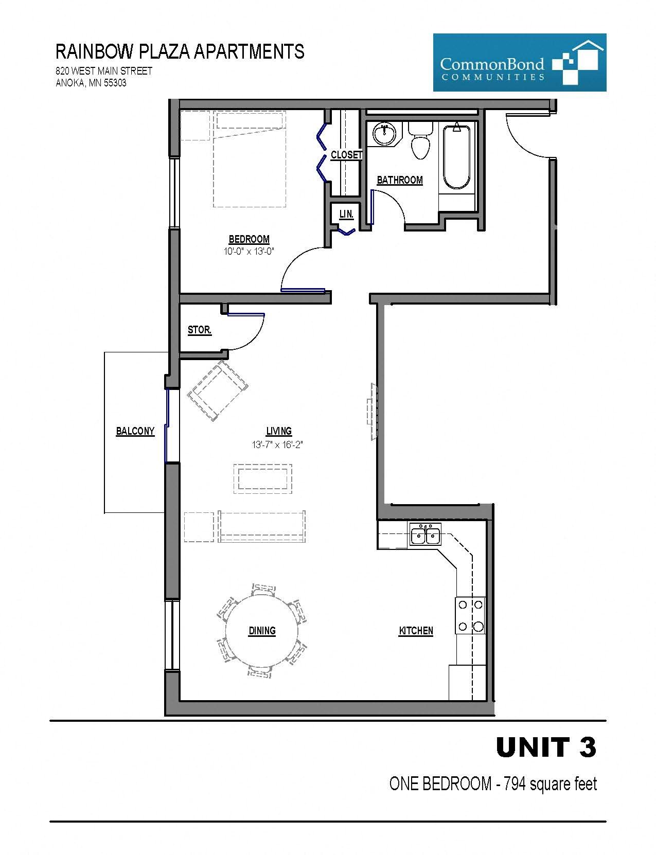 Unit 3 Floor Plan 3