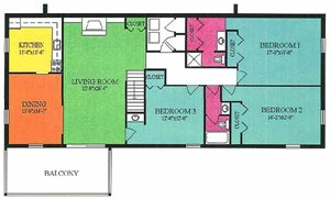 3 Bedroom 2 Bath apt