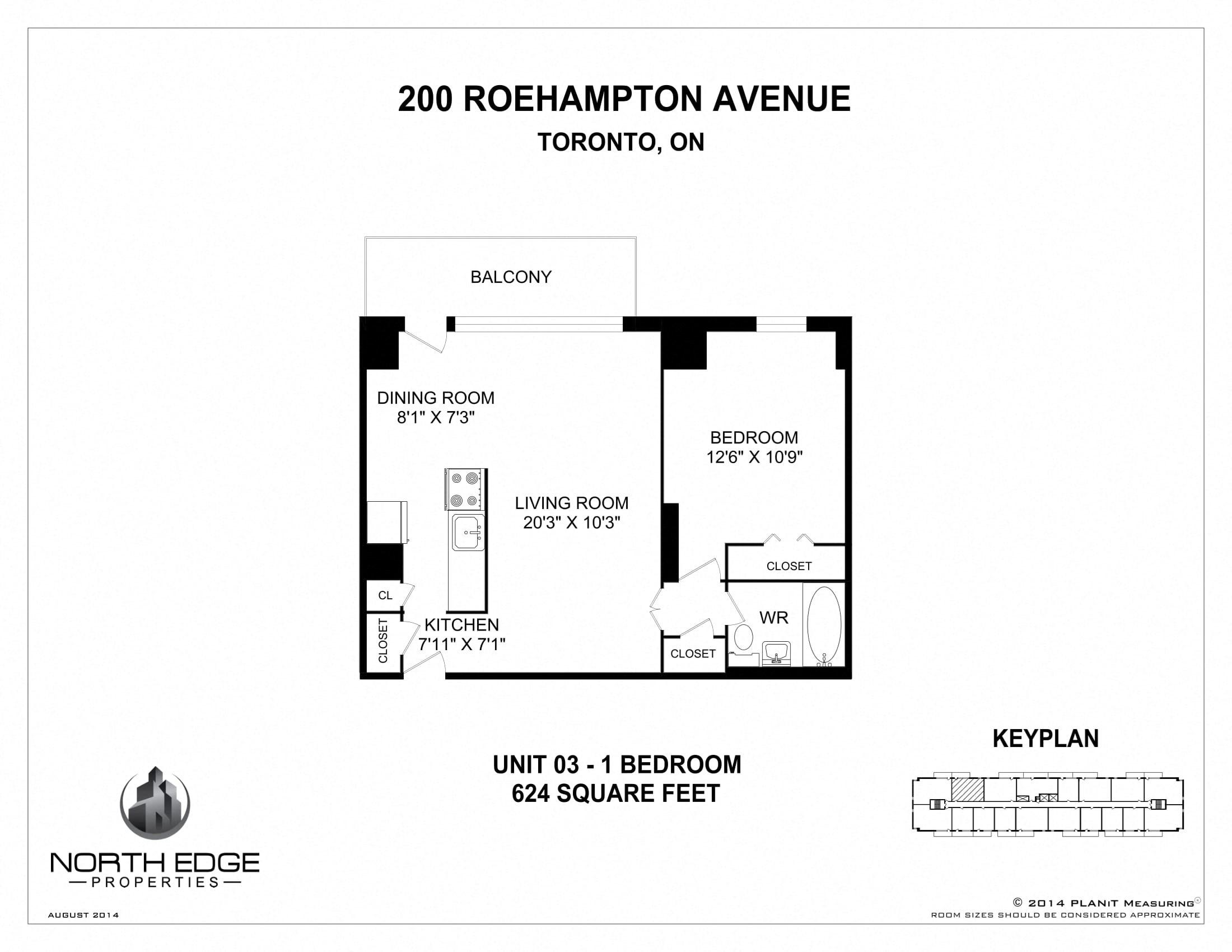 floor plans of 200 roehampton in toronto on