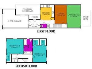 2 bedroom 1.5 Bath Townhome