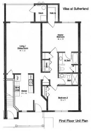 2 Bedroom 2 Bath 1st floor
