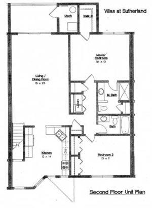 2 Bedroom  2 Bath 2nd floor