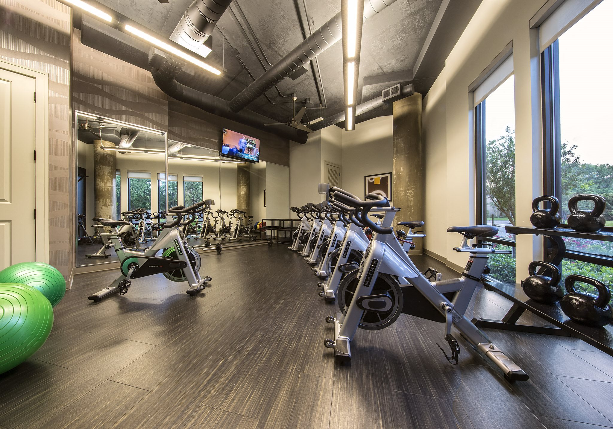 fitness center at Allusion in Houston