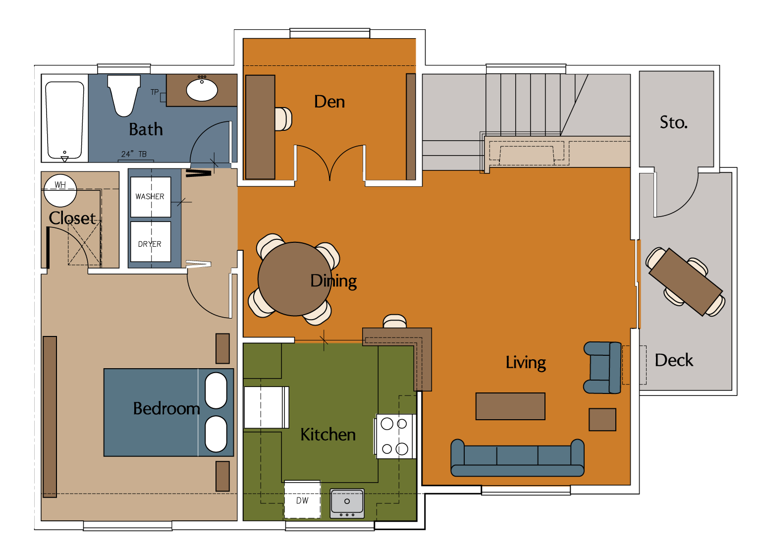 Carriage House Floor Plan 4