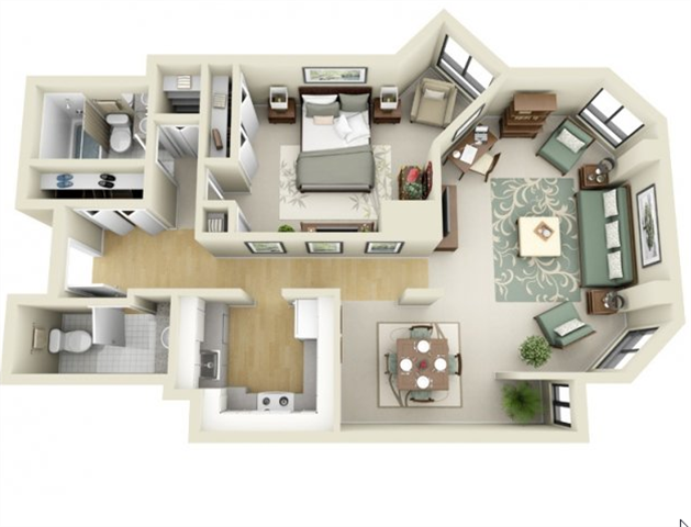 Floor Plans of The Greenhouse Apartments in Boston, MA