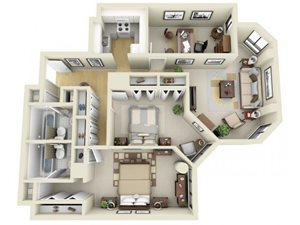 2 Bedroom With Flex Space