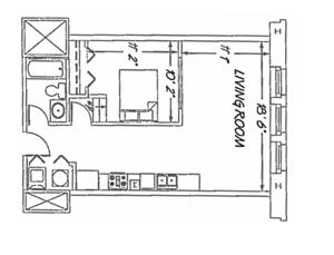 1 Bedroom - D1 Layout