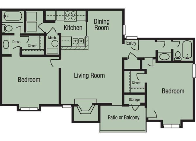 The Lanier Floor Plan 3