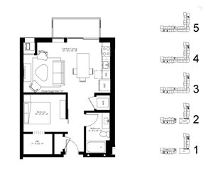 Floor plan at The McMillan, Shoreview, MN