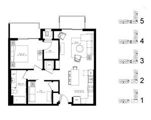 Floor plan at The McMillan, Minnesota, 55126