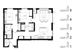 Floor plan at The McMillan, Shoreview, Minnesota