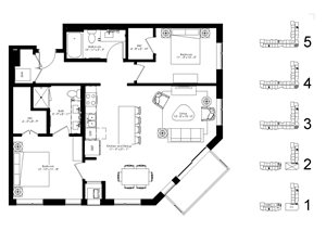 Floor plan at The McMillan, Shoreview