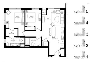Floor plan at The McMillan, Minnesota