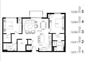 Floor plan at The McMillan, Shoreview, MN 55126