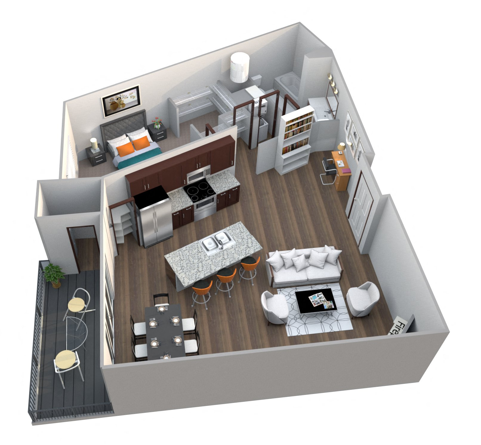 Cheap One Room Apartments: Studio, One, Two, Three-bedroom Apartments