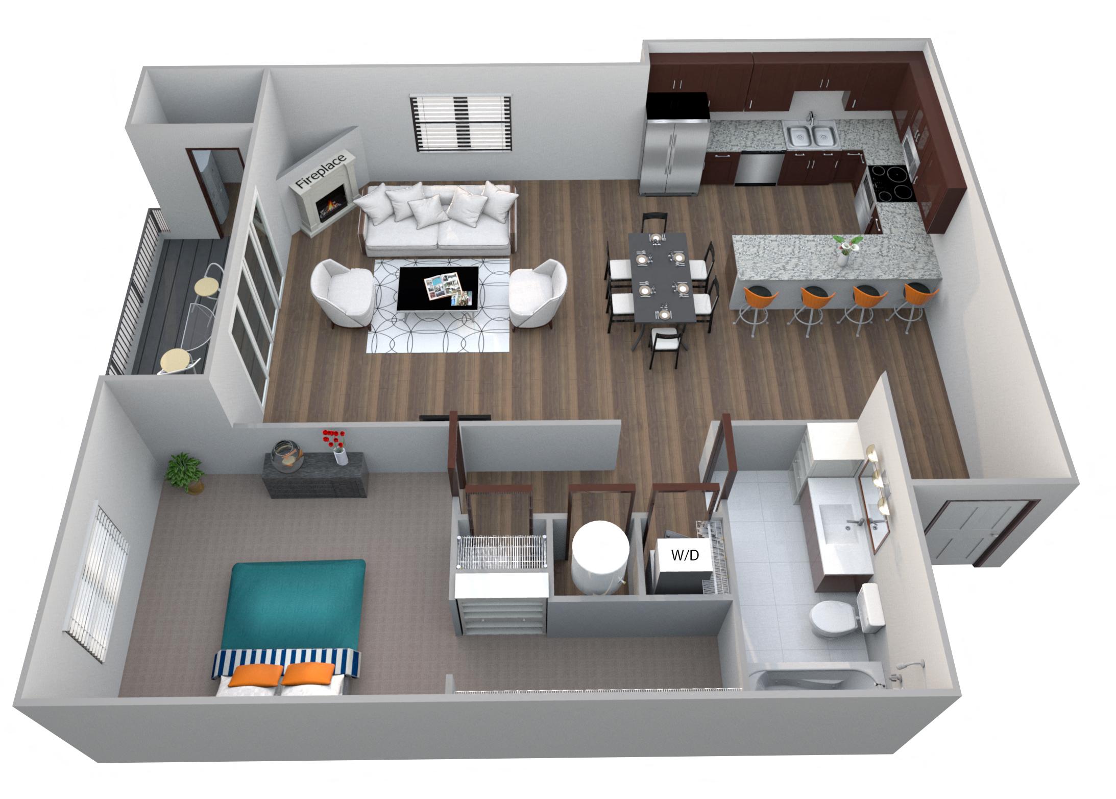Unit B3 Bent Building 1 Bedroom Apartment At 360 Jordan West Best New