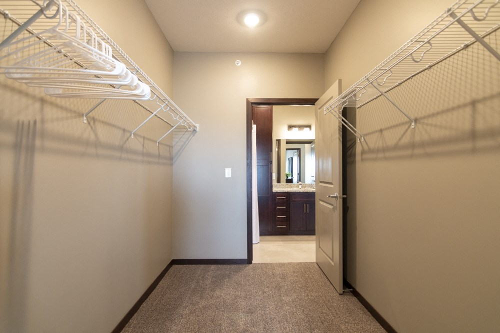 Large walk-in closets included at 360 at Jordan West best new apartments West Des Moines IA 50266