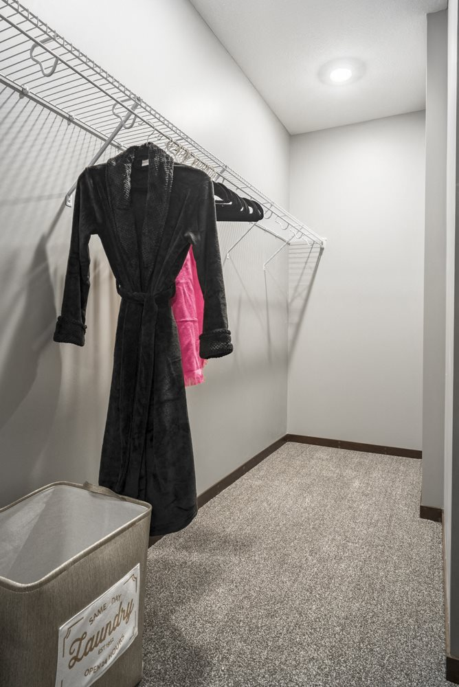 Walk-in closet at 360 at Jordan West best new apartments West Des Moines IA 50266