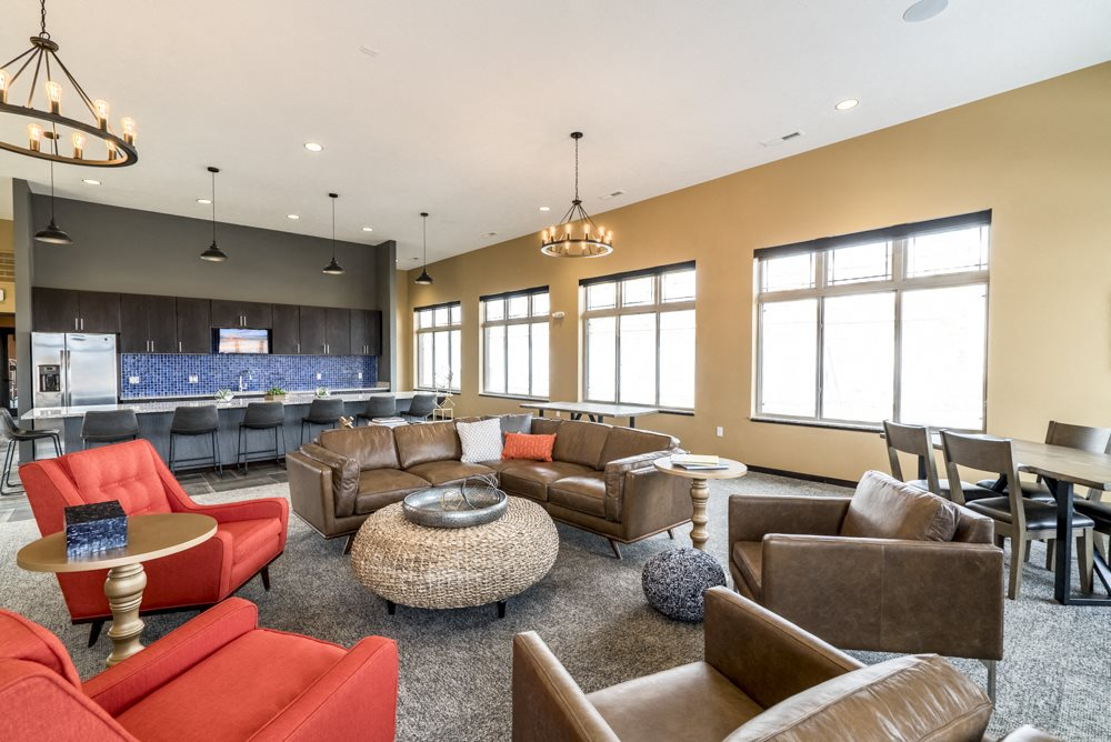 360 at Jordan West apartments-Clubhouse interior