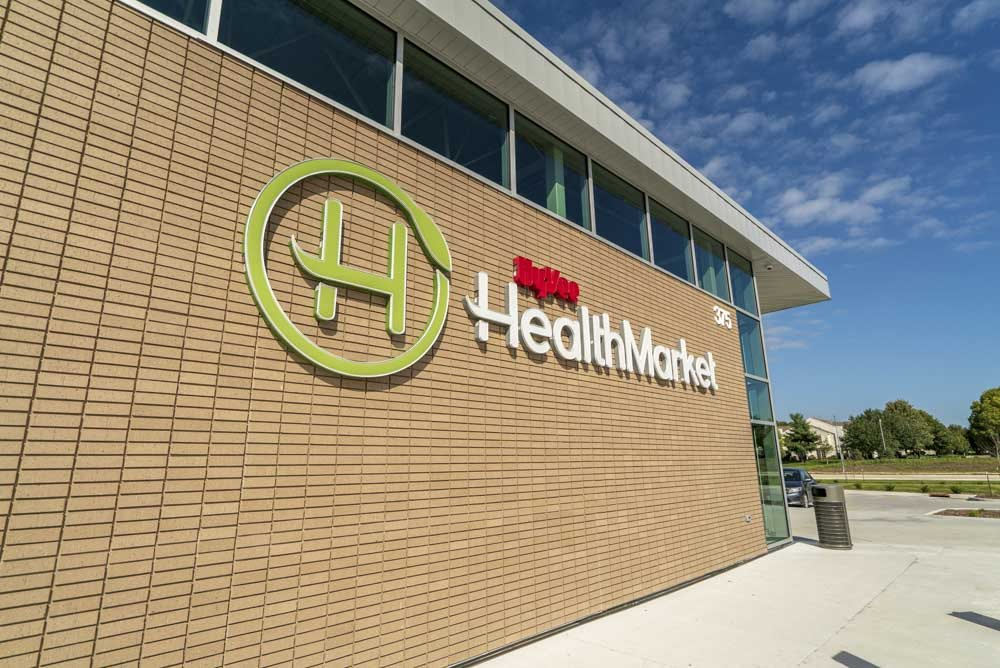 HyVee Health Market in West Des Moines near 360 at Jordan West