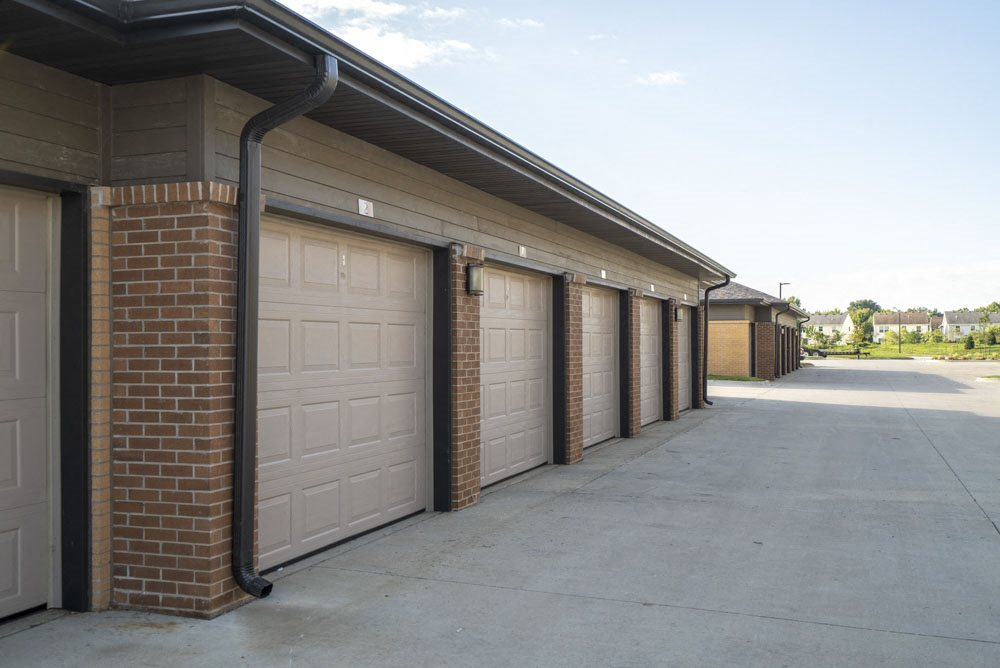 Detached garages for rent at 360 at Jordan West best new apartments West Des Moines IA 50266