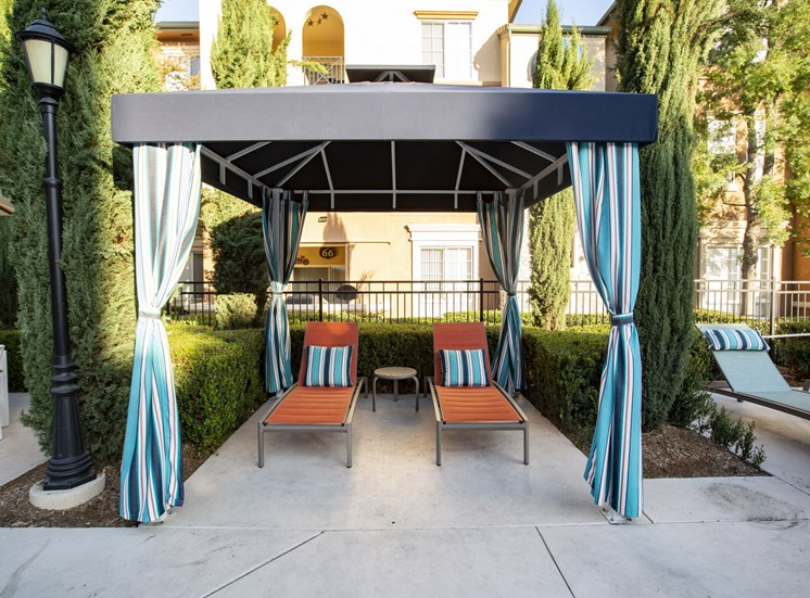 Cabana in pool area