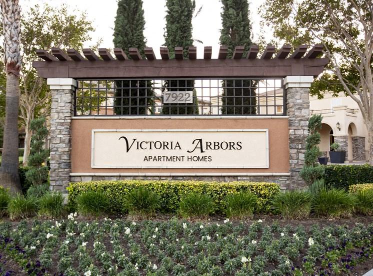 Victoria Arbors sign