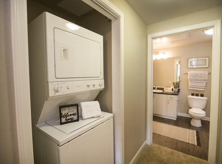 Washer/dryer adjacent to bathroom
